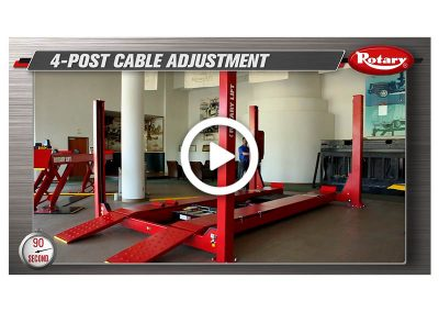 90 Know How – Four Post Cable Adjustment