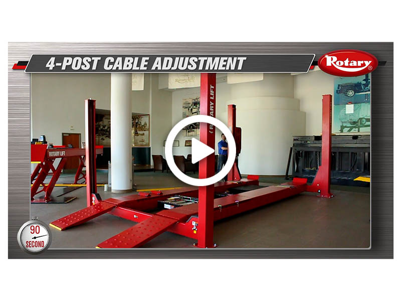 90 Know How Four Post Cable Adjustment