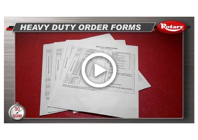 90 Know How – New Heavy Duty Order Forms