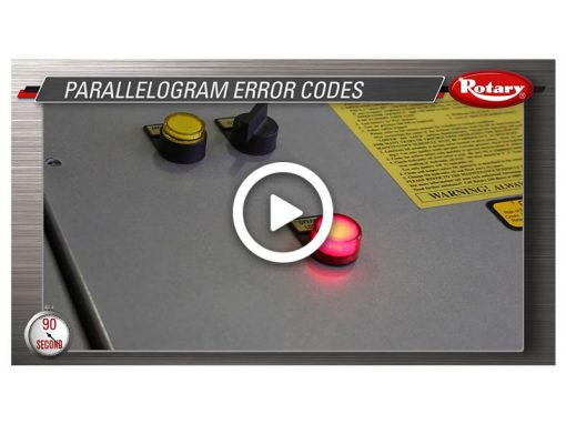 90 Know How – Parallelogram Error Codes