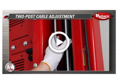 90 Know How – Two Post Cable Adjustment