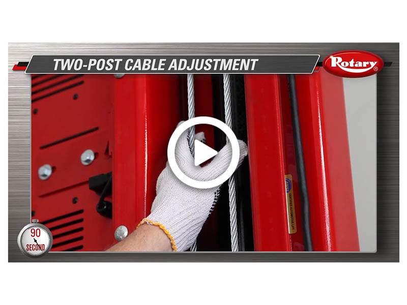 90 Know How Two Post Cable Adjustment