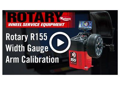 R155 Width Gauge Arm Calibration