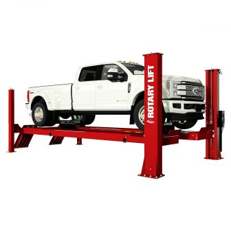 Truck on alignment lift